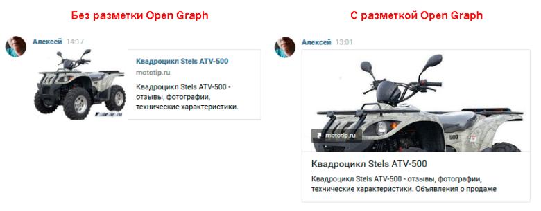 Open Graph личные сообщения VK